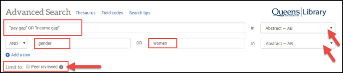 search for: pay gap or income gap AND gender or women