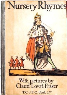[Book cover for Nursery Rhymes illustrated by Claud Lovat Fraser, photo courtesy of Margaret Lock]