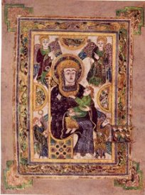 [illustrated page from the Book of Kells]