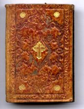 [Bible with fine 'peanut-brittle' leather binding]