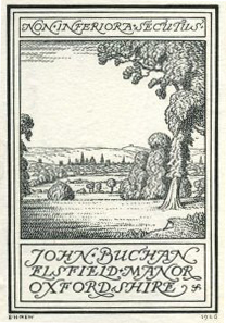 [bookplate from John Buchan's private library]