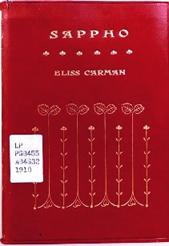 [image of Bliss Carman's Sappho]