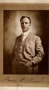 [Photo of Donald McNicol, 1912]