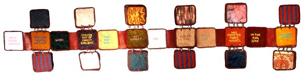 [Quilted accordion book]