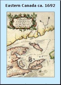 [Map of Eastern Canada ca. 1692]