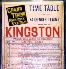 [Grand Trunk Railway System timetable]