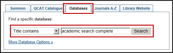 [Database Tab - Academic Search Complete database]
