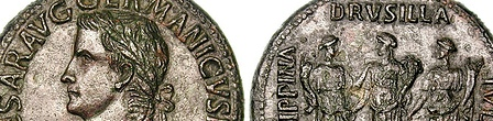 Caligula and His 3 Sisters Sestertius