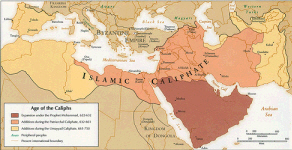 [Map. Age of the Caliphs, Boston Public Library]