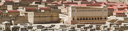 Old Jerusalem: detail of the scale model of Jerusalem during the period of the 2nd Temple. Israel Museum.