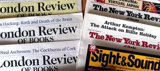 London Review of Books; New York Review of Books; Sight & Sound. Photo by Phil Gyford, via Flickr (CC license)