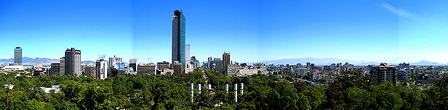 View of Mexico City from Chapultepec Castle