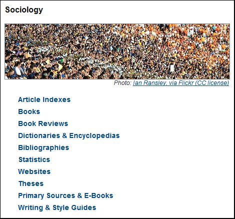 [Sociology Subject Guide]