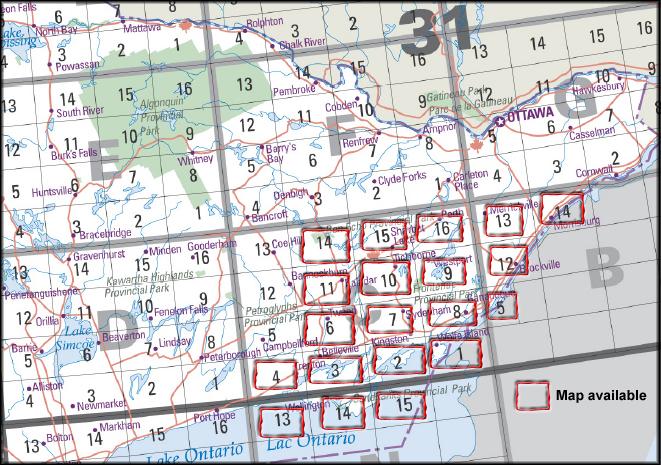 Index To Local Area Canmatrix Topographic Maps Queen S University