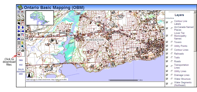 Map Of Kingston Ontario Free maps and data of Kingston, Frontenac Country and surrounding