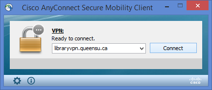 Screenshot of Cisco VPN sign in box
