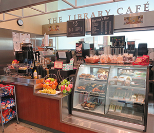 Library cafe at Stauffer Library