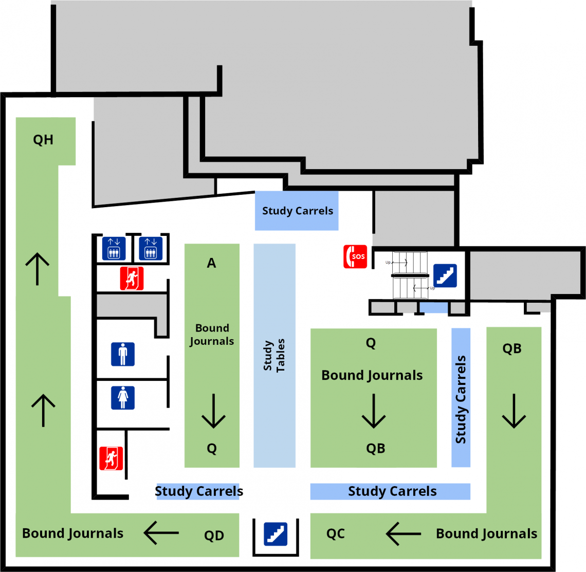 Douglas library third level floor plan