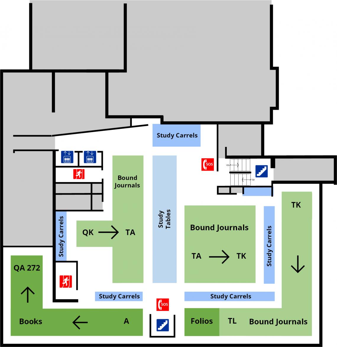 Douglas library second level floor plan