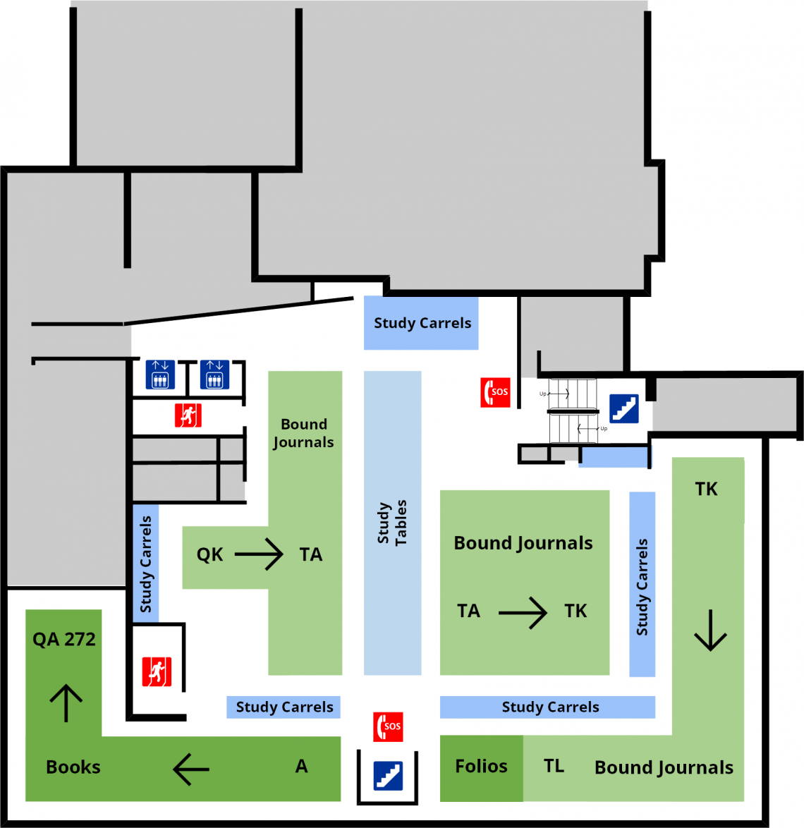 Douglas Library Second Floor Floorplan