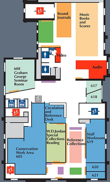 Douglas Library Sixth Floor Floorplan