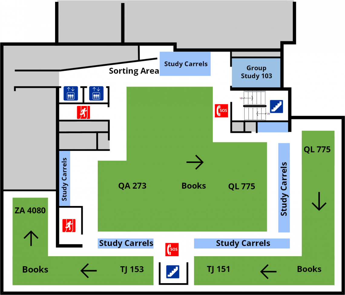 Douglas Library Third Floor Floorplan