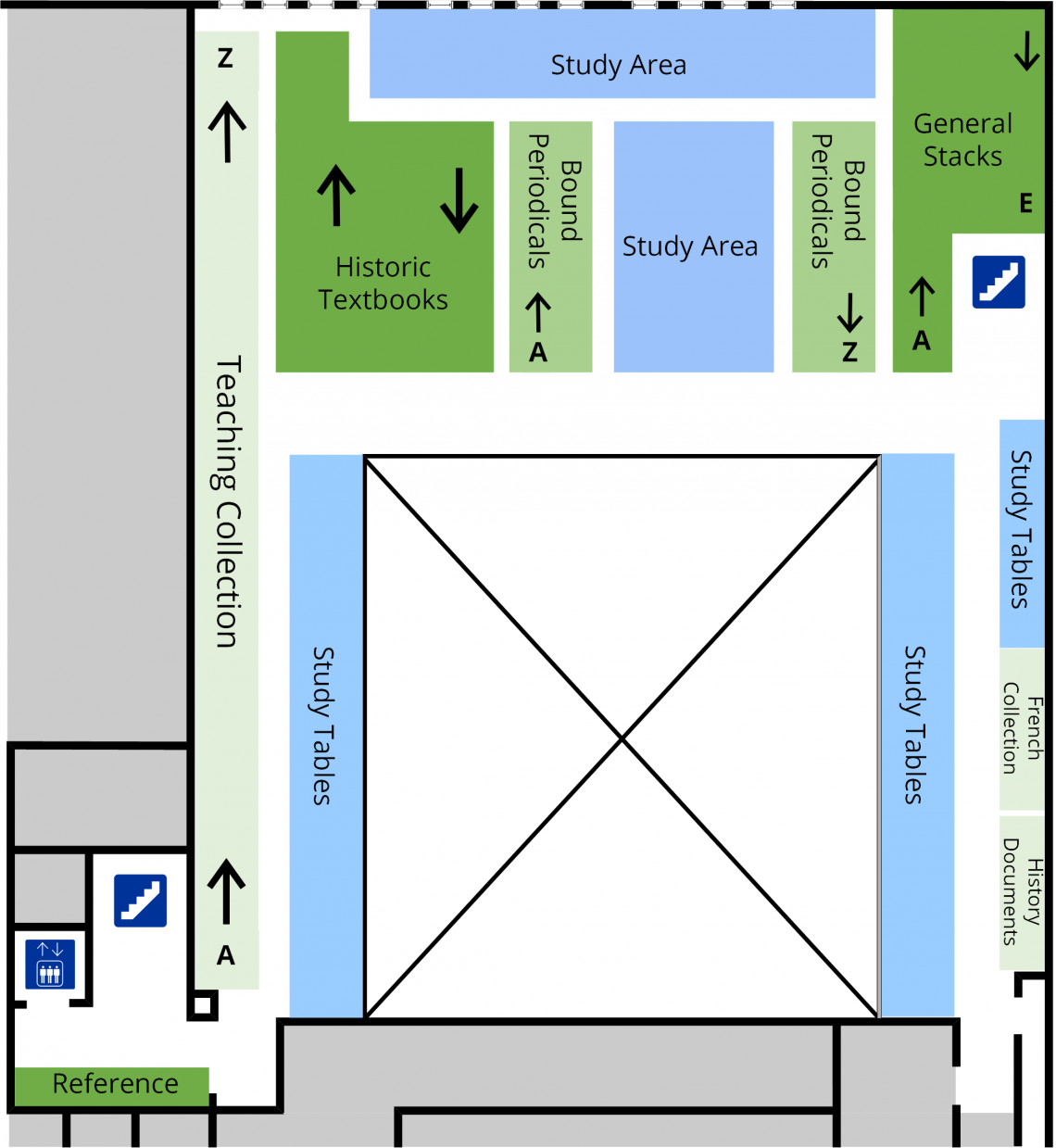 Education second level floor plan