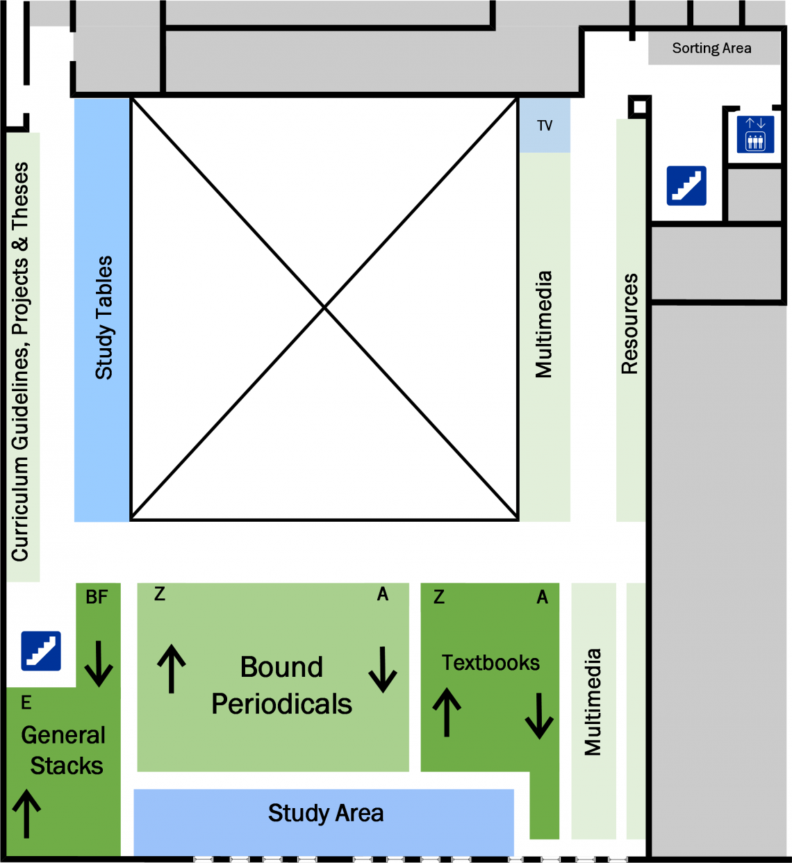 Education Second Floor Floorplan
