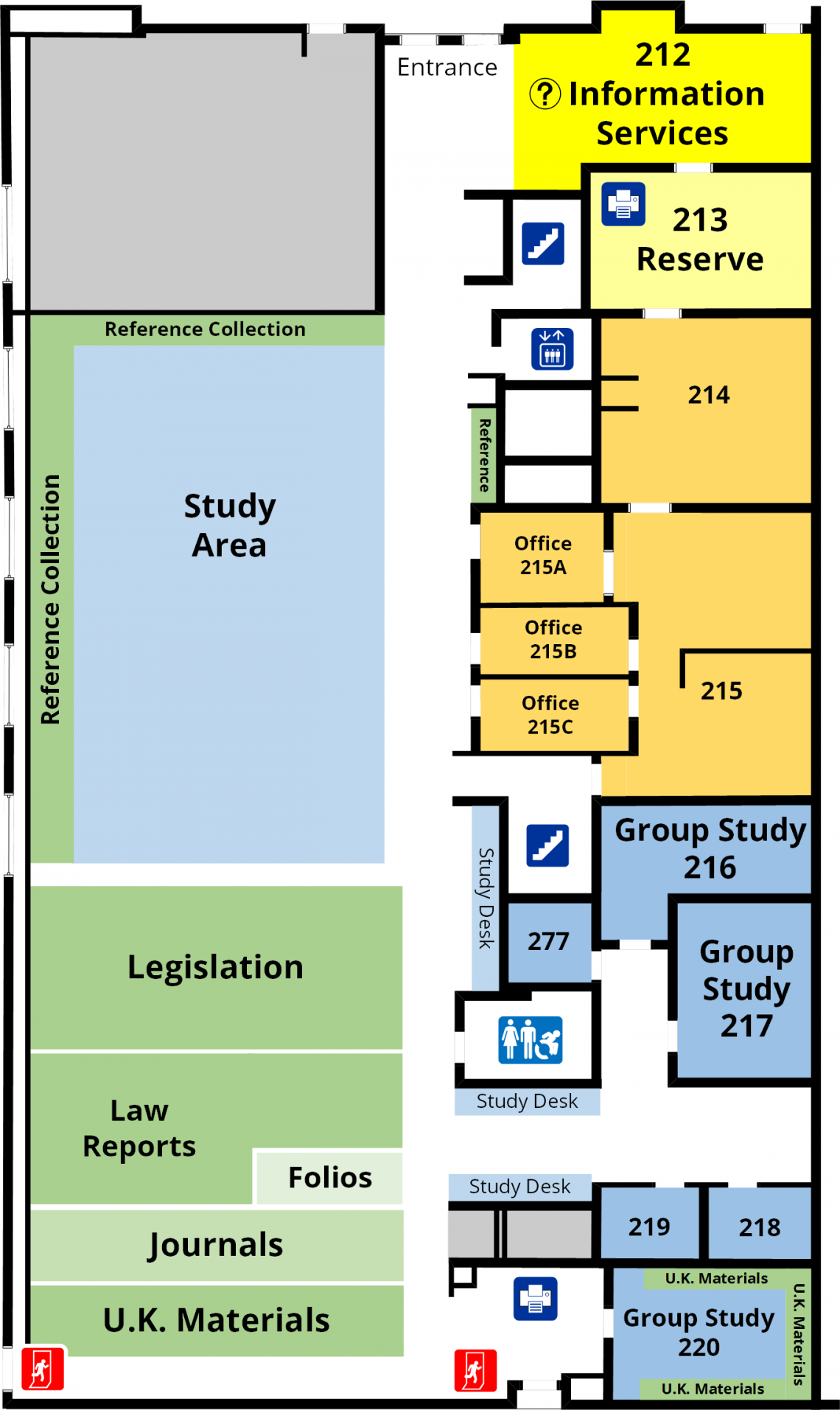 Lederman Law Library First Floor Floorplan