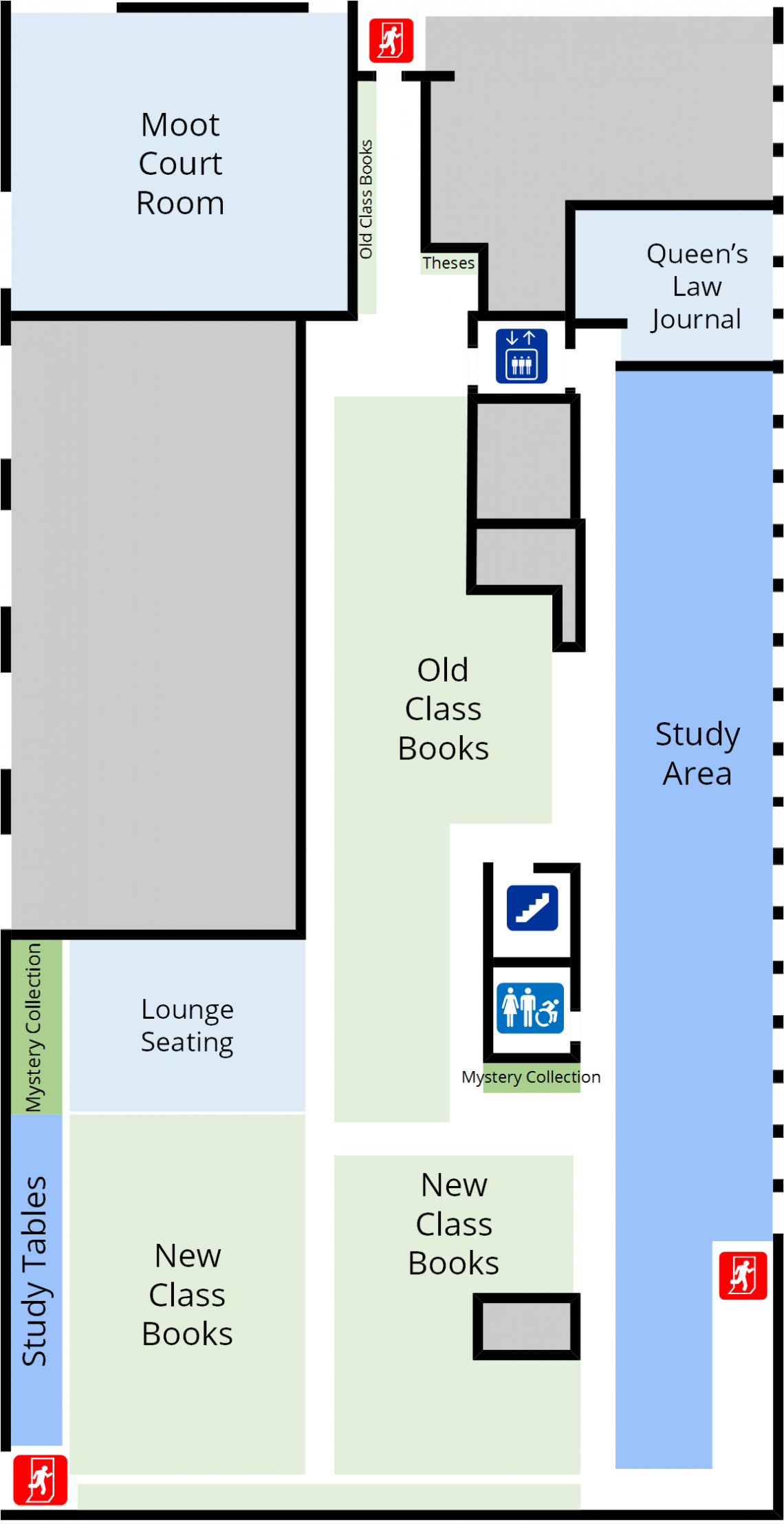 Lederman Law Library Second Floor Floorplan