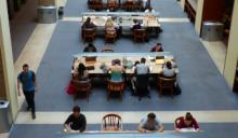 Stauffer Library atrium