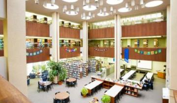 The main floor of the Education Library