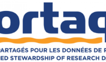 "Portage logo and text ""Shared stewardship of research data"""