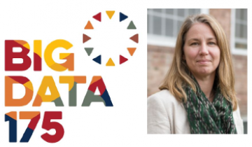 """Dr. Denise Anthony with the text """"Big Data"""""""