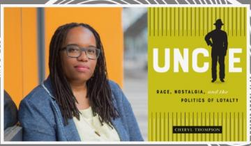 Author Cheryl Thompson and Uncle Tom book cover