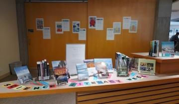 Science Literacy week display in Douglas Library