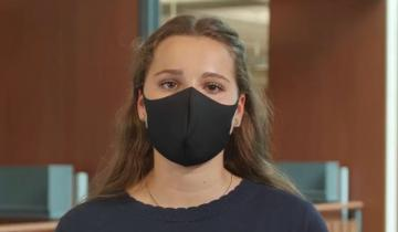 A narrator in the Stauffer Library Student Safety Instructional Video