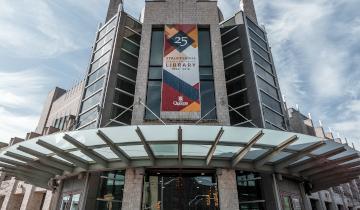 Joseph Stauffer Library front facade