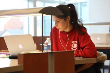 Student Studying on her Laptop