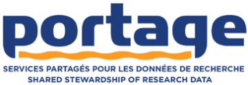 """Portage logo and text """"Shared stewardship of research data"""""""
